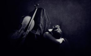 cello, ragazza