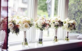 matrimonio, bouquet, Roses, Vasi
