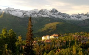 Telluride Mountain Village, Colorado, пейзаж