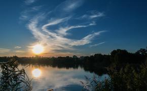 Kharkov, puesta del sol, otoño