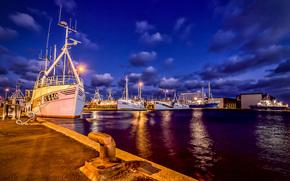Skagen, Dania, zwykle, port