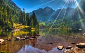 Colorado, Maroon Lake, USA, Colorado, Maroon Bells