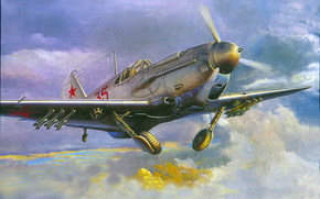 Art, avion, l'urss, LaGG-3, Seconde Guerre mondiale