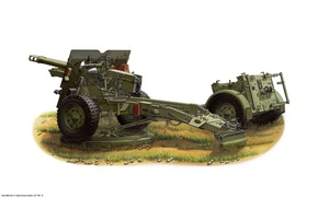 Art, gun, WWII, United Kingdom, QF 25pdr Field Gun Mk. II.I Great Britain
