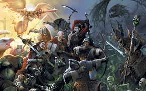 Might & Magic Heroes 7, wars, swords, angel, bird