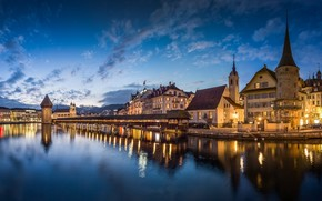 Lucerne, Switzerland, Chapel Bridge
