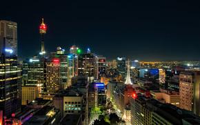 Sydney, ville, nuit