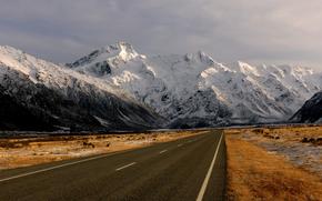 Montagne, stradale, paesaggio