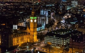 London City, city, night, lights