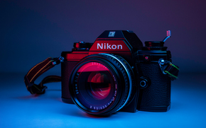 nikon, camera, background