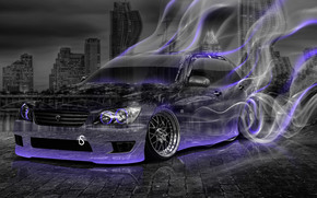 Tony Kokhan, Toyota, Altezza, JDM, Crystal, car, smoke, Drift, style, Violet, Neon, night, el Tony Cars, photoshop, HD wallpapers, Tony Cohan, Photoshop, style, Toyota, Alteza, Transparent, machine, smoke, Smock, PLASTIC, purple