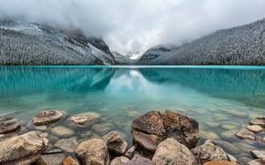 Moraine, Parco Nazionale di Banff, Canada, lago, alberi, paesaggio