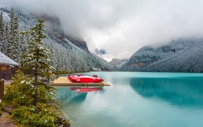 lake louise, Canada, lake, Mountains, landscape