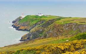 Ирландия, Howth lighthouse, пейзаж