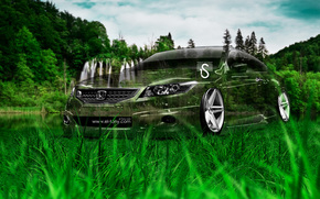Tony Kokhan, Honda, Accord, Coupe, JDM, Crystal, nature, green, grass, style, el Tony Cars, HD wallpapers, 2014, Tony Cohan, Photoshop, Honda, Accord, Coupet, Transparent, nature, grass, GREEN, wallpaper, Art, style