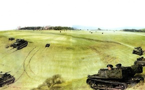 Art, Tanks, teaching, Salisbury Plain, England, 1930