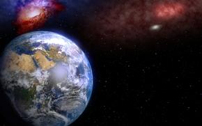 Planeta, miejsce, 3d, sztuka