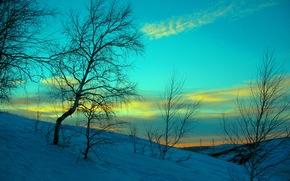 холод, ностальгия, вечер, снег, небо, закат, зима, январь, нур