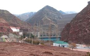 Nurek, GES, Tajikistan, centrale elettrica, serbatoio, diga, Montagne, Nurek