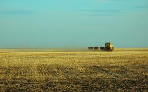 semina, aratura, trattore, Kirovec, Kazakhstan, terreno vergine, Kostanay, kokshetau.pole, steppa, villaggio, LAVORO, Maggio