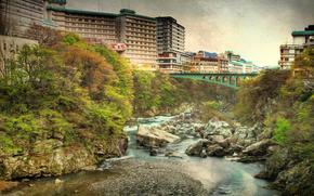 Kinugawa Onsen, Горячий источник курорта в городе Никко, Точиги, Япония