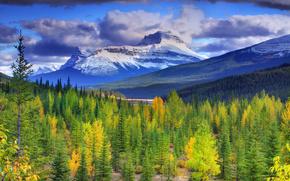 Banff National Park, jesień, Kanada, Kanada, Alberta