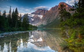 Jasper National Park, Alberta, Canada, river, Mountains, landscape