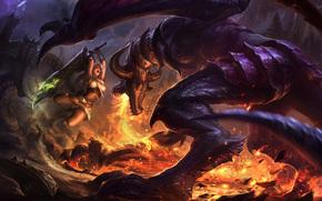 League of Legends, carta da parati, fantasia