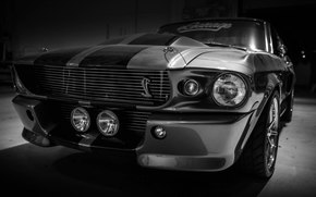 ford, mustang, shelby, gt500, Eleanor, silver, Muscle car, ford, avtooboi