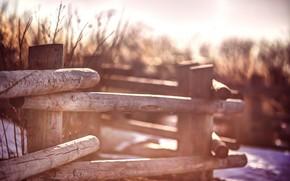 забор, ограда, столбы, размытие