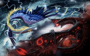 Dragons, 3d, art
