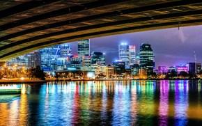 Narrows Bridge Perth, australia, city, night