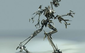 robot, metal, movement