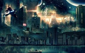 Stadt der Zukunft, 3d, art