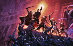 pillars_of_eternity, Fighting, dungeons, monsters, fire, magic