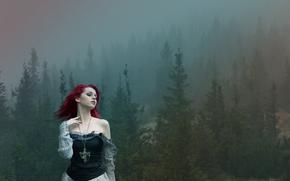 мистический, пейзаж, лес