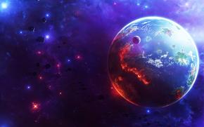 вселенная, планета, астероид, космос