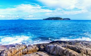 morze, Rocks, Wyspy, krajobraz