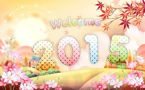 welcome 2015, welcome back, 3d
