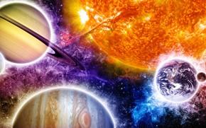 Saturno, Planeta, espaço