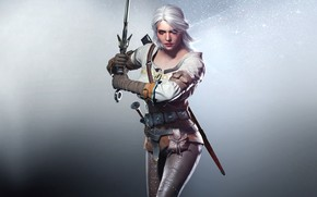 the_witcher_3_wild_hunt, games, girl, sword, magic