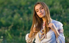 Ukrainan dziewczyna, ubierać, piękny