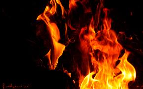 fire, hot, darkness