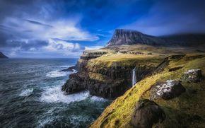 Faroe Islands, North Atlantic, landscape
