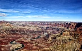 Gran Canyon, Colorado River, пейзаж