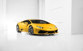 Lamborghini, Huracan, LP610-4, supercar, 2014, Yellow, Front, photo, car
