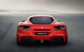 Ferrari, 488gtb, rosso