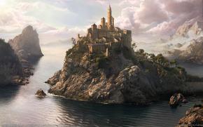 море, город, фантазия