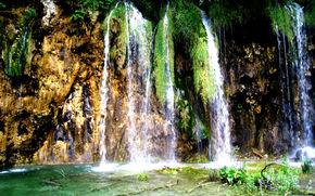 Les lacs de Plitvice, Croatie, eau, Rocks