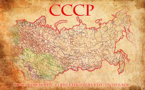 mapa, URSS, mapa